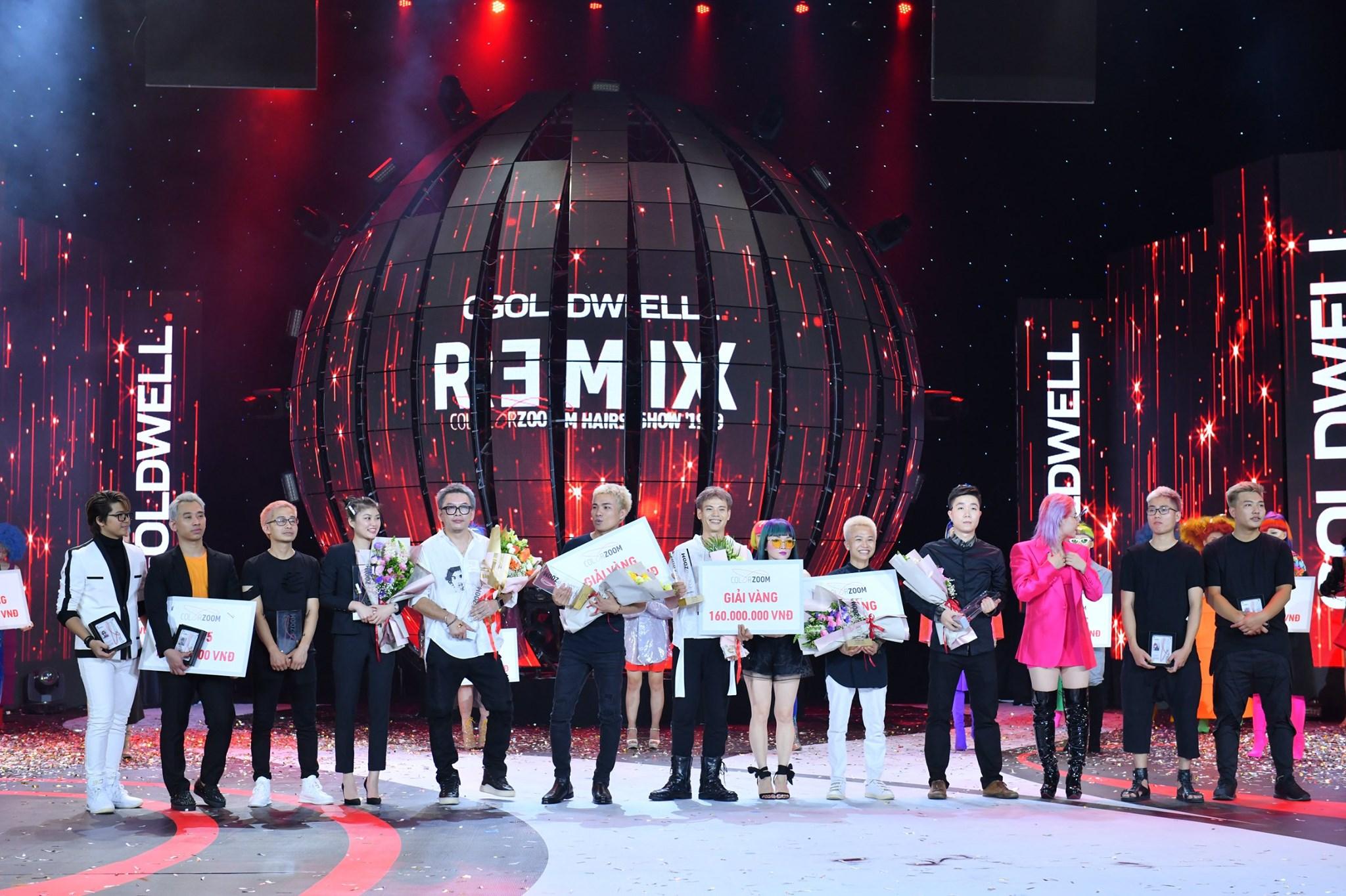 13 nhà tạo mẫu tóc nhận giải thưởng trên sân khấu Goldwell Color Zoom Hair Show '19